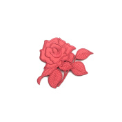 10cm x 8.3cm Pink Silver Fuchsia Gold Turquoise Blue Red Rose Flower Iron on Patch