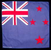 Spinner Flag of New Zealand kiwi bandana handkerchief headwrap head wrap biker 50cm X 50cm Better Bag Cloth Tee Shirt
