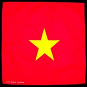 Spinner Vietnam flag Vietnamese bandana handkerchief headwrap head wrap biker 50cm X 50cm . Better Bag Cloth Tee Shirt