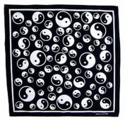Spinner Yin Yang tao taoism bandana handkerchief headwrap head wrap biker 50cm X 50cm . new Better Bag Cloth Tee Shirt