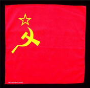 Spinner Soviet hammer & sickle flag bandana handkerchief headwrap biker 50cm X 50cm . new Better Bag Cloth Tee Shirt