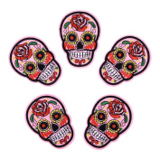 HOUSWEETY 5PCS Embroidered Iron On / Sew On Badge Applique Patch