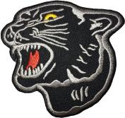 Black Juguar size 7.5cm. x 7.5cm biker heavy metal Horror Goth Punk Emo Rock DIY Logo Jacket Vest shirt hat blanket backpack T shirt Patches Embroidered Appliques Symbol Badge Cloth Sign Costume Gift