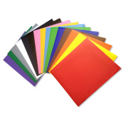 KAYTEQ Heat Transfer Vinyl (HTV) 30cm X 25cm Sheets (Pack of 15) - For T-Shirts, Hoodies, Hats, and other Fabrics - 15 Popular Colours - For Silhouette Cameo, Cricut - Iron On or Heat Press