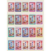 100 pieces of five colours of cranes tissue paper (a flower looks) case