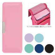 Pay a compact writing brush; wide pita _pen case, pencil case_ both sides difference 6 colour [2017 new entrance to school stationery]