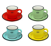 Cabanaz Espresso Cup & Sauces In Red, Blue, Green Or Yellow