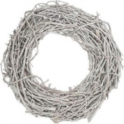 White Wash Grapewood Wreath 40 X 10 Cm Christmas Hanging Home Decoration