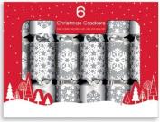6 Christmas Crackers Star & Snowflake Design Fun Kids Xmas Festive Party