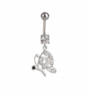 SL-Collection Crystal Butterfly Belly Bar