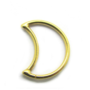 18G 316L Steel Crescent Moon Fake Seamless Continuous Daith Piercing Ring Tragus Helix Cartilage Earring Hoops Ear Lobe