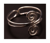 Foot Jewellery Toe Ring Adjustable Silver Tone Metal Adjustable Ring India Spiral
