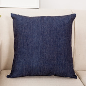 SESO UK- Nordic Blue Geometric Large Pillow Fashion Simple Office Nap Sofa Cushion (18 * 18 Inches, 45 * 45 Cm)