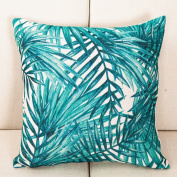 SESO UK- Simple And Fresh Plant Office Lumbar Pillow Sofa Bed Head Cushion (18 * 18 Inches, 45 * 45 Cm)