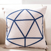 SESO UK- Nordic Simple Geometry Pillow Linen Creative American Office Cushion (18 * 18 Inches, 45 * 45 Cm)