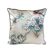 SESO UK- New Chinese Silk Lotus Pillow Office Sofa Nap Household Cushion (18 * 18 Inches, 45 * 45 Cm)