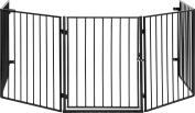 IB-Style - Hearth Gate / Safety Barrier / Stove & Fire Guard CATO Metall Black - 5 x 60 cm = 3 m - Double Locked