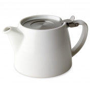 Forlife Stump Teapot 18oz/532ml) - Vanilla White