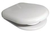 Euroshowers 86510 White D Shape Soft Close Toilet Seat With Standard And Top Fix