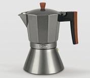 Life Style - Coffe Maker Espresso - Italian Style - Aluminium Black - 6 Cups