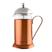 Bonvivo® Gazetaro Ii Design Cafetiere And French Press Made Of Stainless Steel /