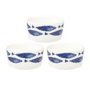 Couture Sieni Fishie 3 Dip Pot Set, Multi-colour