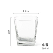 YNBS glass cup square water glass breakfast milk in the glass cup,2