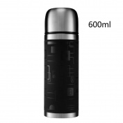 YIHANG @ Stainless Steel Insulation Cup Large Capacity Men And Women Vacuum Cup Bullet Travel Cup,Black-600ml