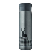 YIHANG @ Stainless Steel Insulation Cup Men And Women Business Portable Creative Large Capacity Vacuum Cup,Grey