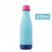 YIHANG @ Stainless Steel Insulation Cup Student Outdoor Sports Kettle Large Capacity Thermos Bottle Portable Leakproof Cup,LightBlue-420ML