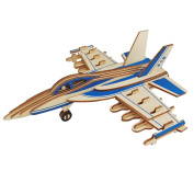 3D Puzzle Fighting Plane Birthday Christmas new year gift