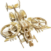 3D Puzzles RDA Scorpion Gunship Assembly Woodcraft Kids Toy Birthday gift