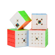 Speed Cube Set, Roxenda Magic Cube Set of 2x2x2 3x3x3 4x4x4 5x5x5 Stickerless Speed Puzzle Cube with Gift Box, IQ Games Puzzles for Kids