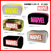 Candy Komi where a boy including the MARVEL solid embroidery pen porch Crux fancy goods stationery stationery stationery pencil case pen case sewing is cool
