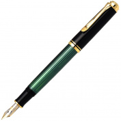 Pelican fountain pen M400 green stripe