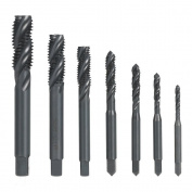 Kkmoon 7pcs M3-m12 Hss Nitriding Coated Metric Spiral Flute Taps Machine & ...