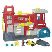 Playskool Heroes Transformers Rescue Bots Gryphon Rock Firehouse Headquarters To