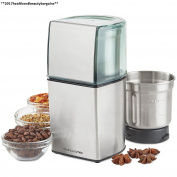 Andrew James Coffee Grinder, Nut And Spice Grinder In Stainless Steel, 200w,...