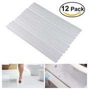 Nuolux 12pcs Non Slip Strips Stickers For Bath Shower White
