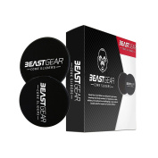 Core Sliders by Beast Gear – Double Sided Gliding Discs for Abdominal Exercises - Carpet and Hard Floors