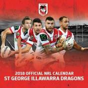 NRL St George Illawarra Dragons 2018 Calendar
