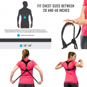 Posture Corrector for Women & Men + Resistance Band for Upper Back Pain – Adjustable Posture Brace for Improve Bad Posture by Only1MILLION