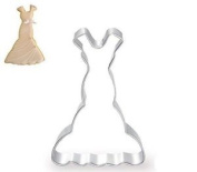 Dreamflying Lady Wedding Dress Skirt Series Cookie Cutter - Stainless Steel