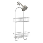 Interdesign Classico 2 Shower Caddy, Storage For Tall Shampoo, Conditioner, Soap