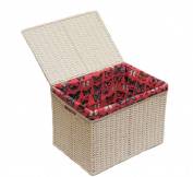 Arpan Medium Laundry Paper Rope Basket Storage Chest Trunk Hamper/kids Toy With