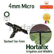 4mm Micro Irrigation Tee. Hozelock And Antelco Compatible. Garden Watering