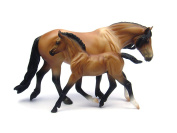 Breyer 1:12 Scale Classics Collection - Mealy Bay Dartmoor Pony Mare & Light Bay