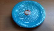 Paper 23cm plates Blue 24pk