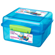 Sistema Lunch Cube Max To Go With Yoghurt Pot, 2 L - Assorted Colours