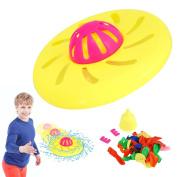 Water Bomb Frisbee Fill Nozzle 20 Bomb Balloon Soak Friend Family Fun Throw Game